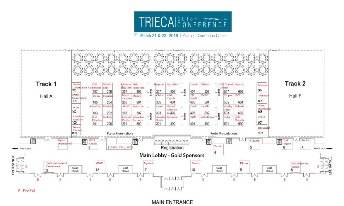 TRIECA 2018 conference floor plan