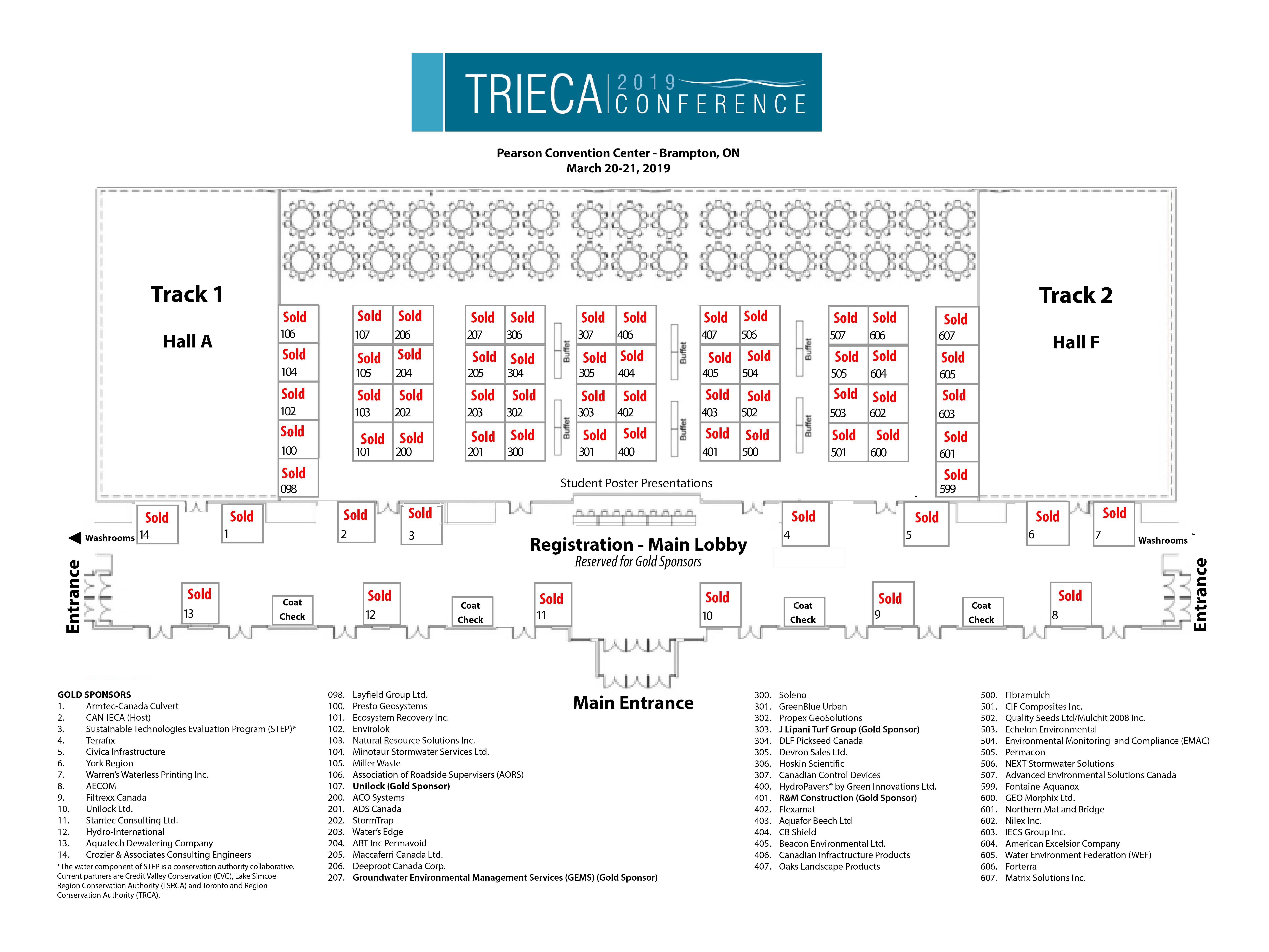 TRIECA 2019 conference floor plan