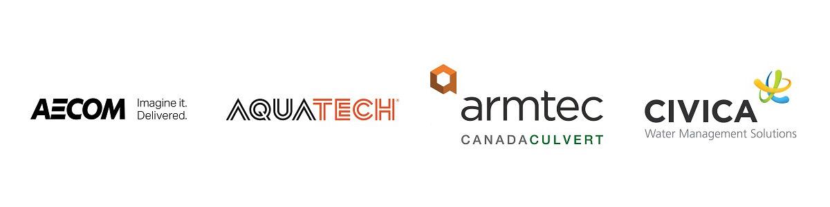 TRIECA 2019 gold sponsors Aecom Aquatech Armtec Civica