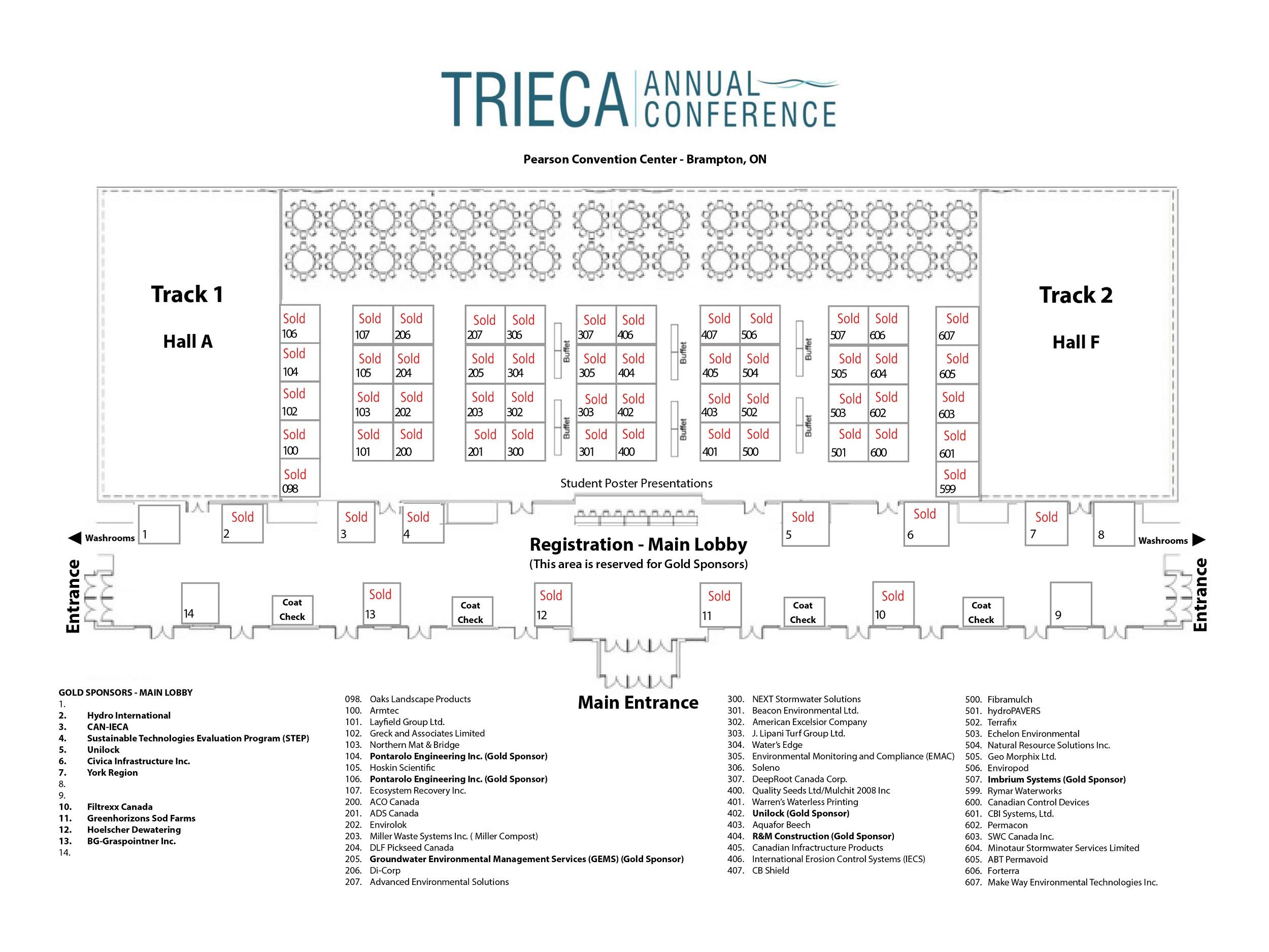 TRIECA 2020 conference floor plan